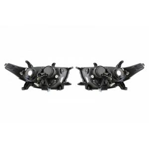 """Передняя оптика для Toyota Hightlander (2011-13) """"Audi Style"""" с ангельскими глазками и линзой"""